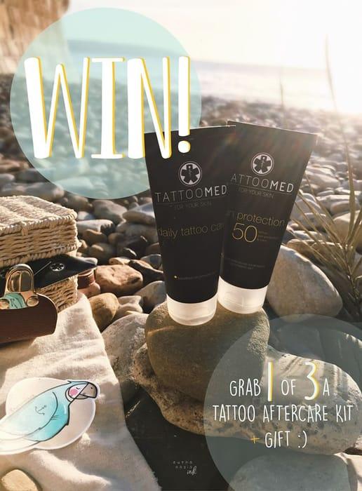 Win a TattooMed Daily Care & TattooMed Sun Block SPF50!