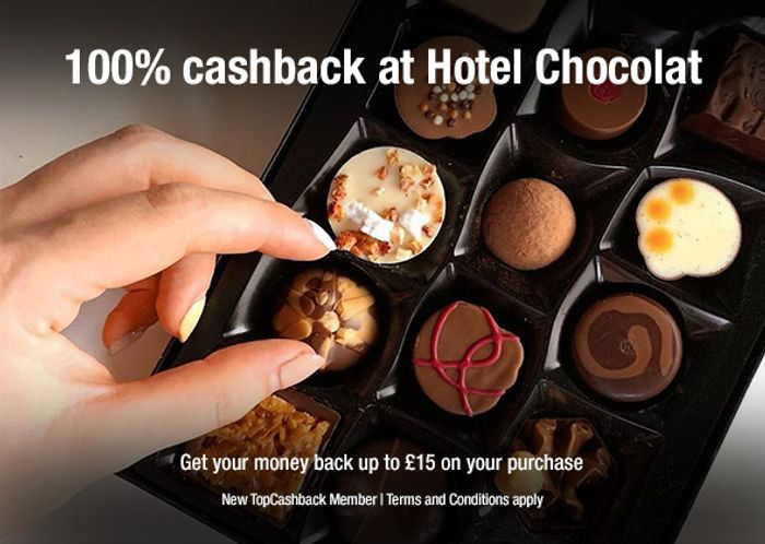 Free Chocolates at Hotel Chocolat up to £15 after Cashback