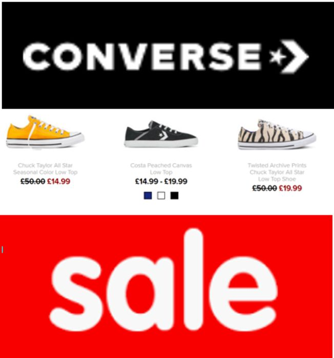 CONVERSE TRAINERS SALE - up to 50% OFF