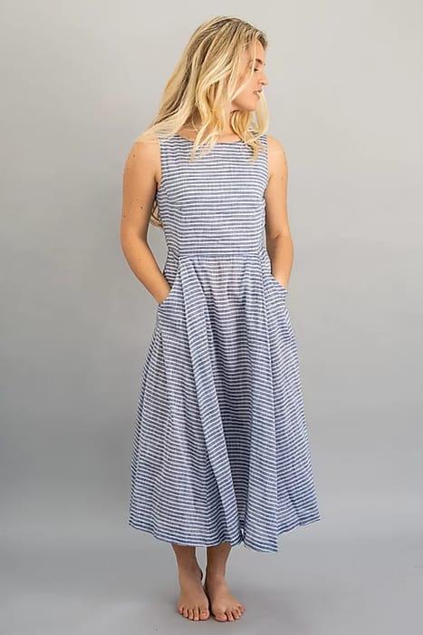 Chambray Single Long Dress