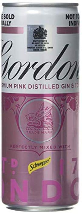 Gordon's Premium Pink Gin and Tonic 4 X 250ml Can