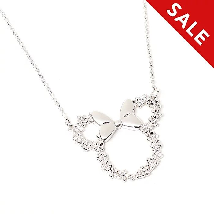 Disney Positively Minnie Silver Plated Necklace