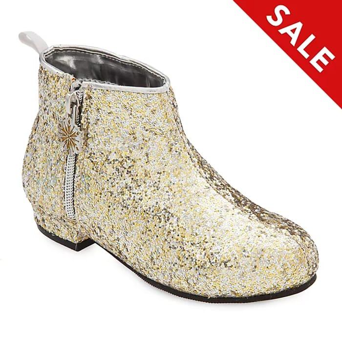 Disney Store Frozen 2 Gold Glittery Boots