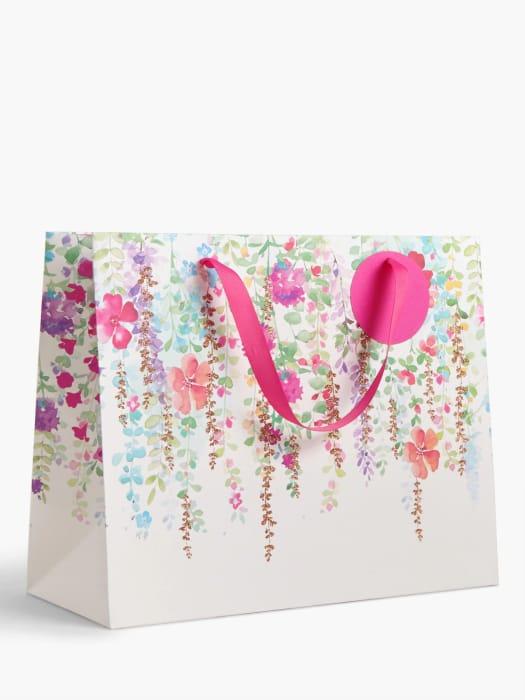 John Lewis & Partners Spring Floral Gift Bag, Medium