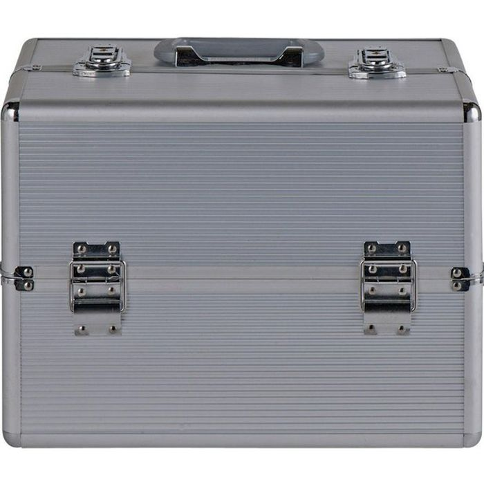 Pretty Pink Large Silver Aluminium Vanity Case Click & Collect