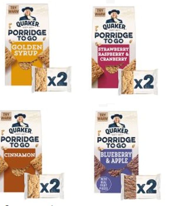 Quaker Porridge to Go Bars - Various