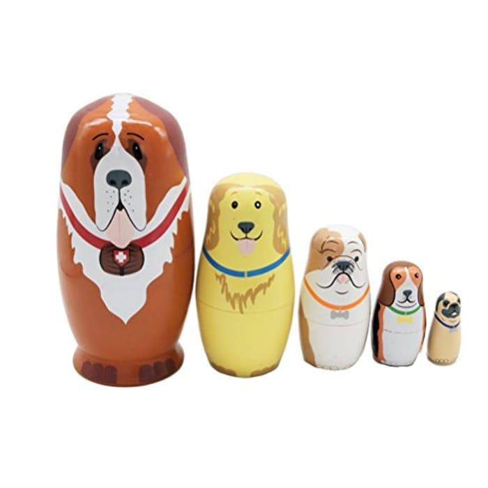 Ultnice Russian Dolls Russian Jerarquizacin Dolls Wood for Children 5 Pieces