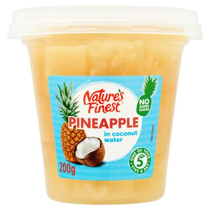 Nature's Finest Pineapple or Mango in Coconut Water 200g