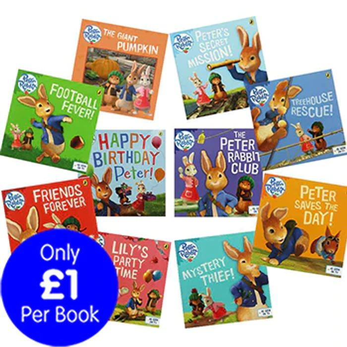 Special Offer The Adventures of Peter Rabbit - 10 Kids Picture Books Bundle