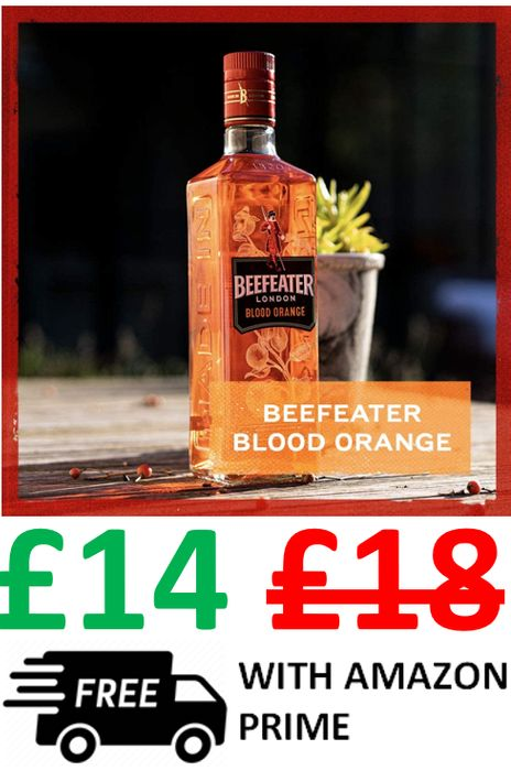 Cheap Beefeater Blood Orange Flavoured Gin 70cl - Save £4!