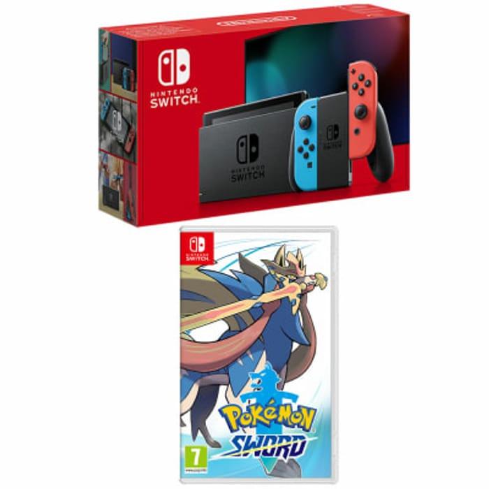 Nintendo Switch - Neon + Pokemon Sword