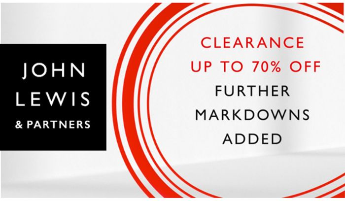 John Lewis CLEARANCE - Further Markdowns Added