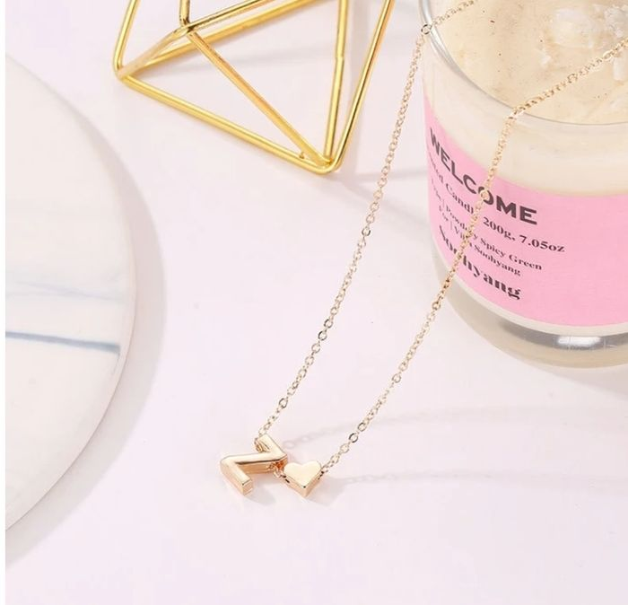 Free Cutest Tiny Heart & Initial Necklace Just Pay the Delivery!