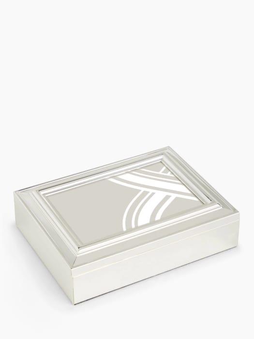 John Lewis & Partners Constance Photo Frame Keepsake Box Silver Plated