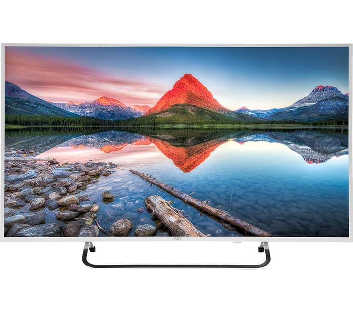 """Great Value JVC 40"""" Full HD LED TV - White"""