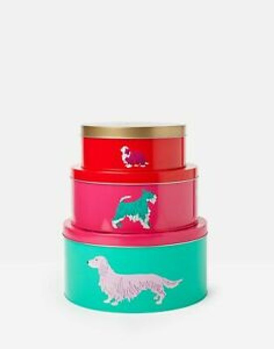 Joules Nested Cake Tins Set of 3 - Red, Pink and Green 55%off by Joules on eBay.