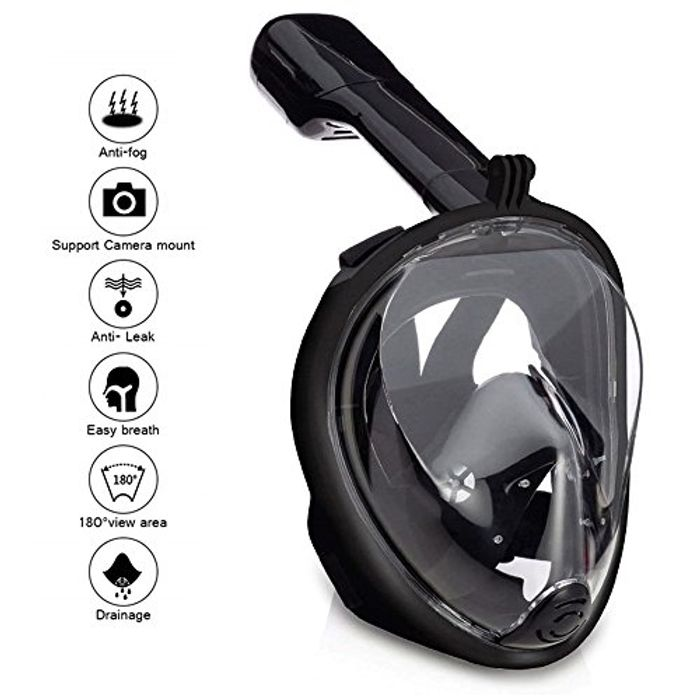 Wsobue Snorkel Mask,180View Full Face Diving Mask