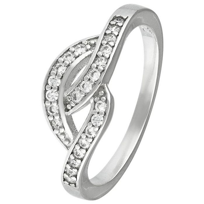 Revere Sterling Silver Cubic Zirconia Crossover Ring - N