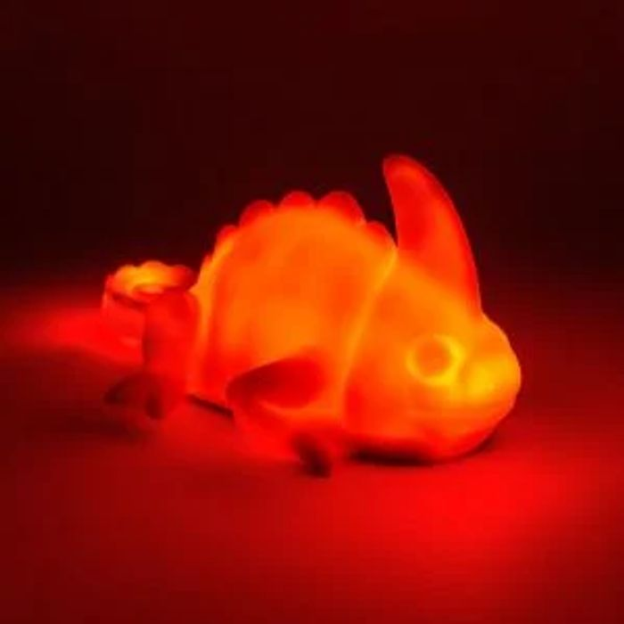 Chameleon Sensor Light, Changes Colour to Match What He Rests On