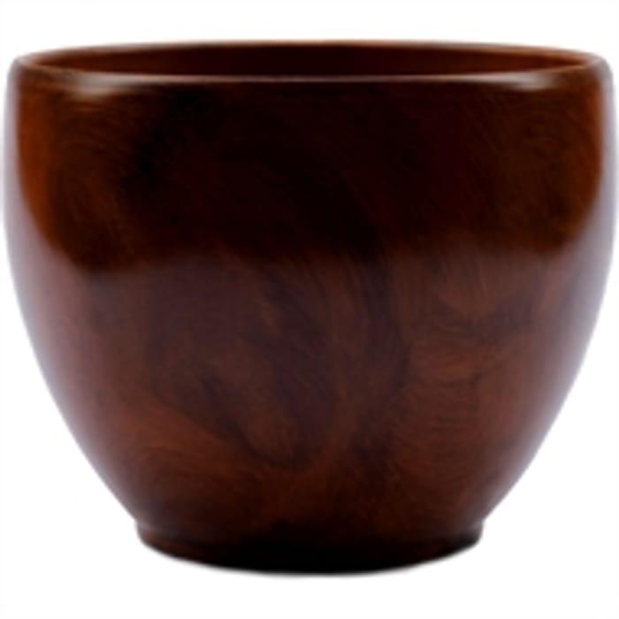 Wood Effect Terracotta Pot - 16cm