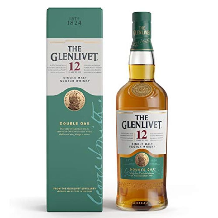 The Glenlivet 12 Year Old Single Malt Scotch Whisky 70cl (Double Oak