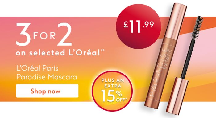 3 for 2 on Selected L'Oreal
