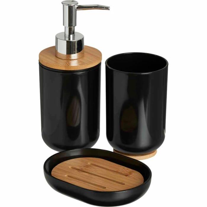Wilko Bamboo Dispenser Set 3pc