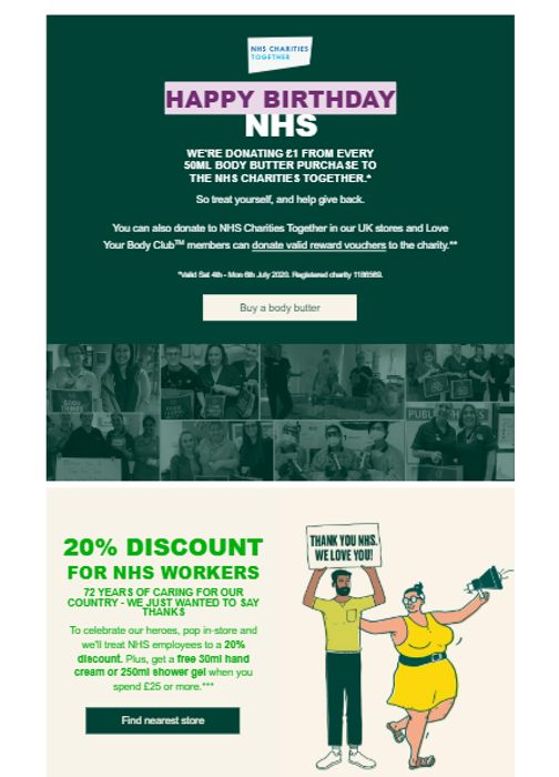 20% OFF FOR THE NHS+ Get A Free 30ml Hand Cream Or Shower Gel With £25+ Spend