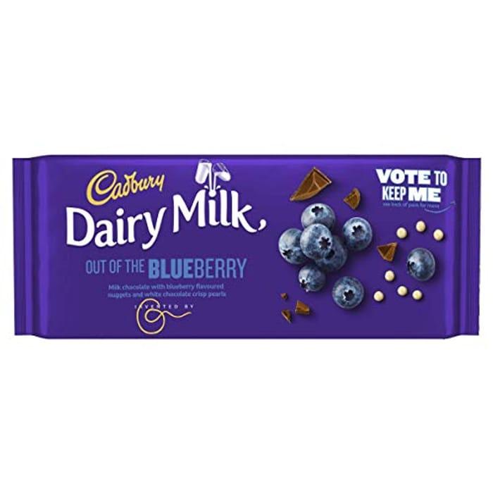 Cadbury Dairy Milk Blueberry Chocolate Bar, 105g