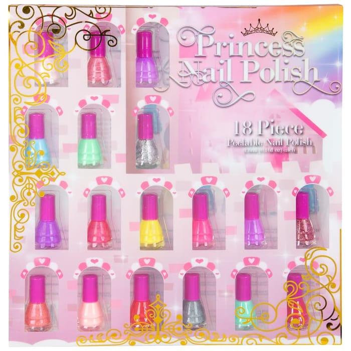 Reduced Further : Princess Kids 18 Piece Nail Polish Set