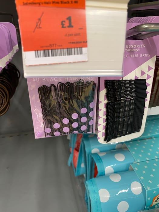 40x Black Hair Pins - Half Price