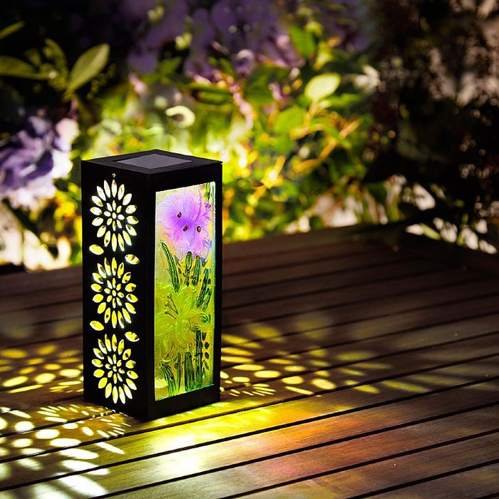 Solar-Powered Garden Lantern
