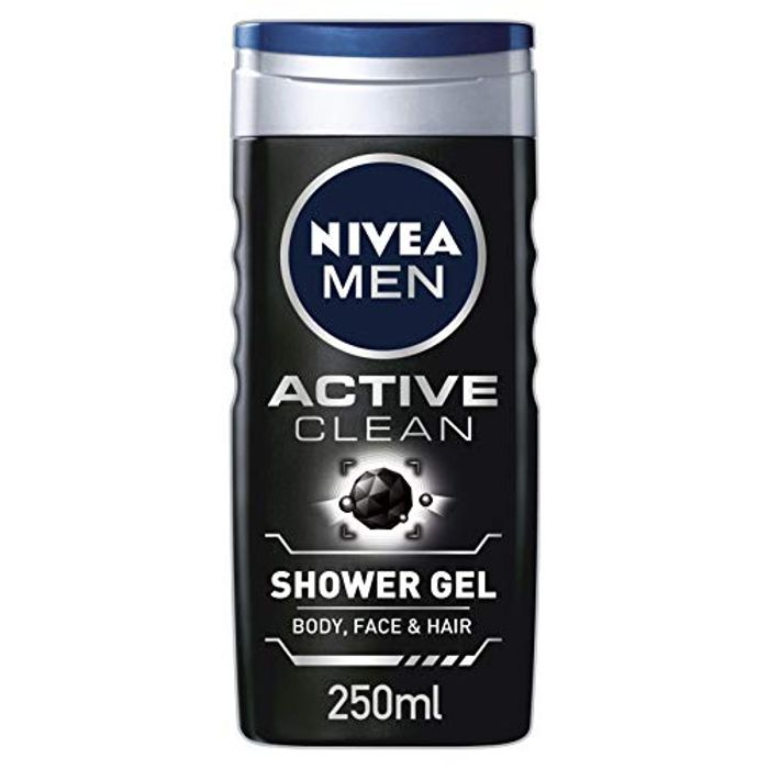 Nivea Men Shower Gel, Active Clean with Charcoal, 250 Ml for £1