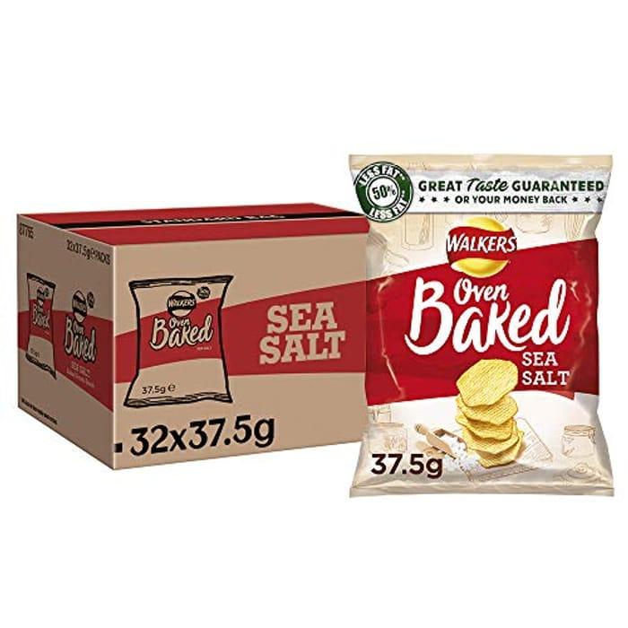 (Link in Description) Bargain!Walkers Baked ReadySalted Crisps37.5 g(Case of 32)