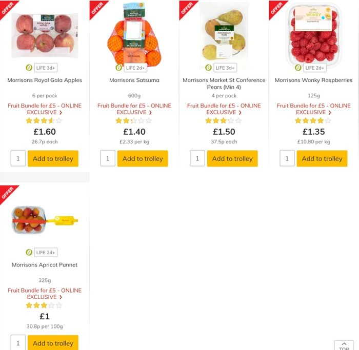 Morrisons Fruit Bundle Online Only