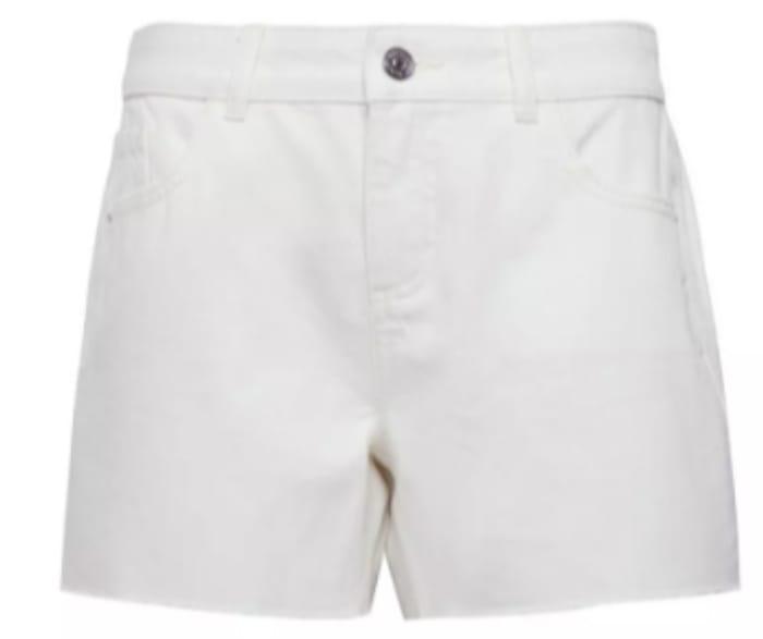White Raw Hem Boy Short