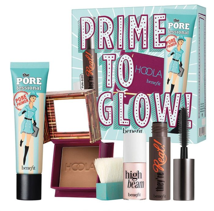 Benefit Prime to Glow, Primer Bronzer, Mascara & Highlighter
