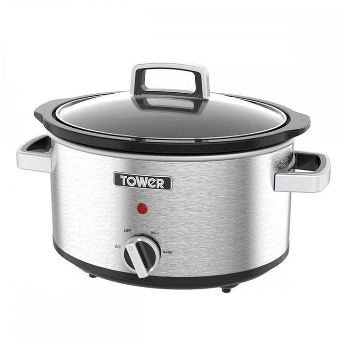 TOWER 3.5L Slow Cooker - Stainless Steel