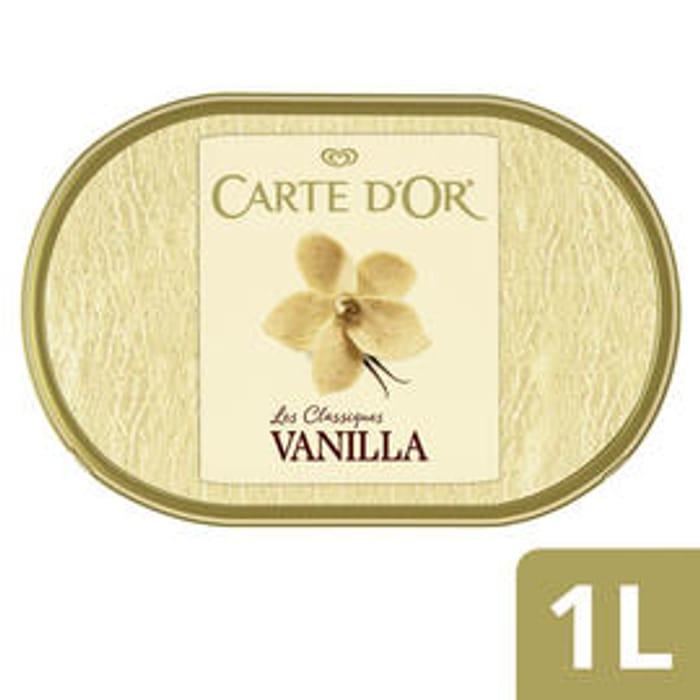 Best Price! Carte D'or Classics Vanilla Ice Cream Dessert 1000ml