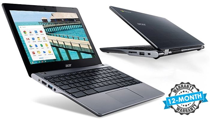 Acer 11.6-Inch Chromebook Laptop - 16GB SSD & 2GB RAM