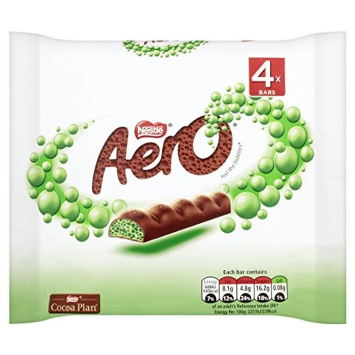 Nestle Aero Peppermint Multi-Pack, 4x27 G (Pack of 14, Total 56 Bars)