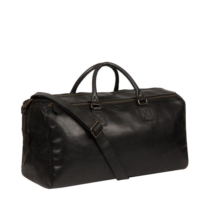 Conkca London - Black 'Edu' Leather Holdall Bag