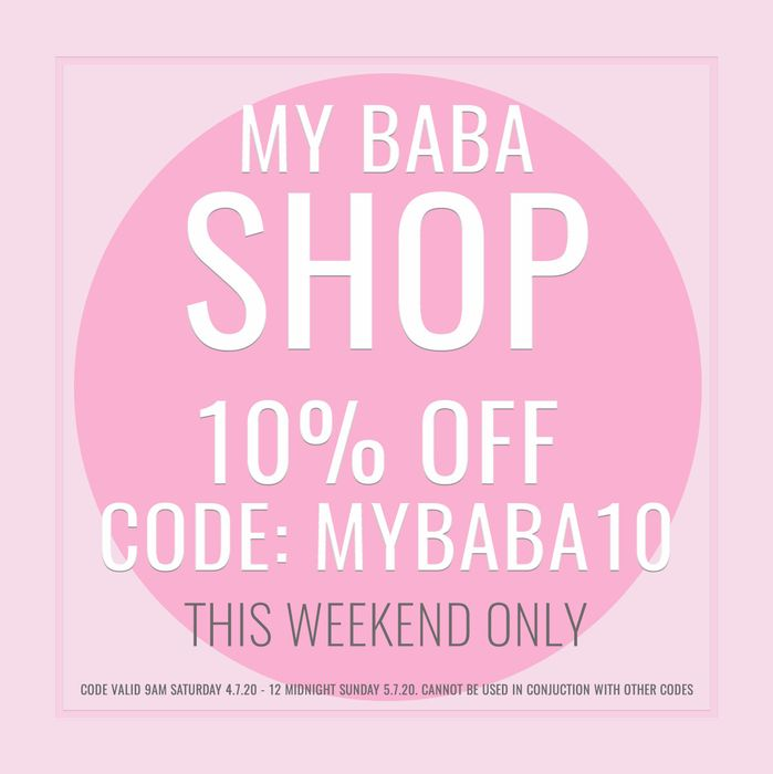 10% off My Baba Shop Items