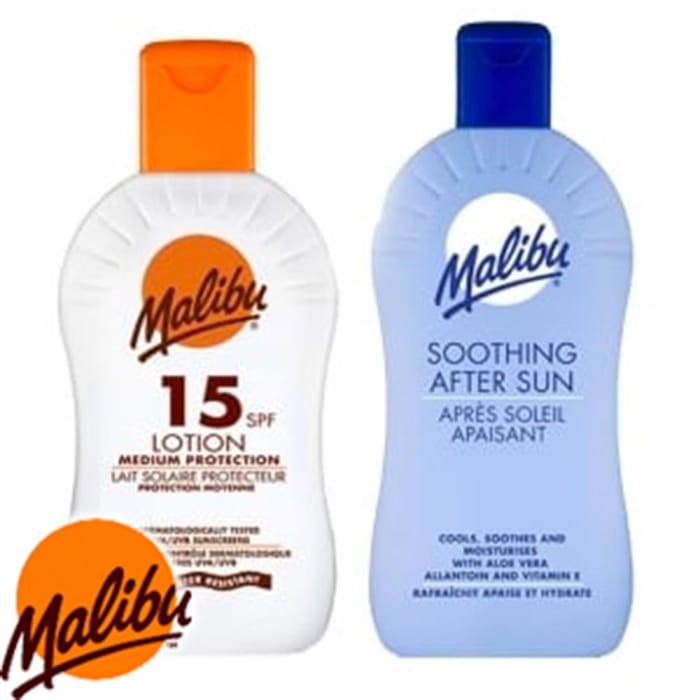 Malibu Sun Pack: 200ml SPF15 Lotion & after Sun