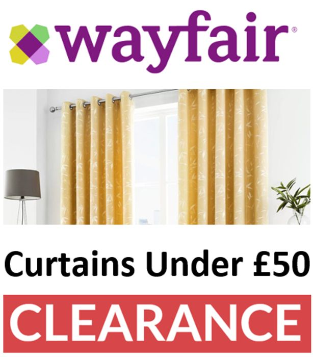 Curtains under £50 - SALE & CLEARANCE DEALS at Wayfair
