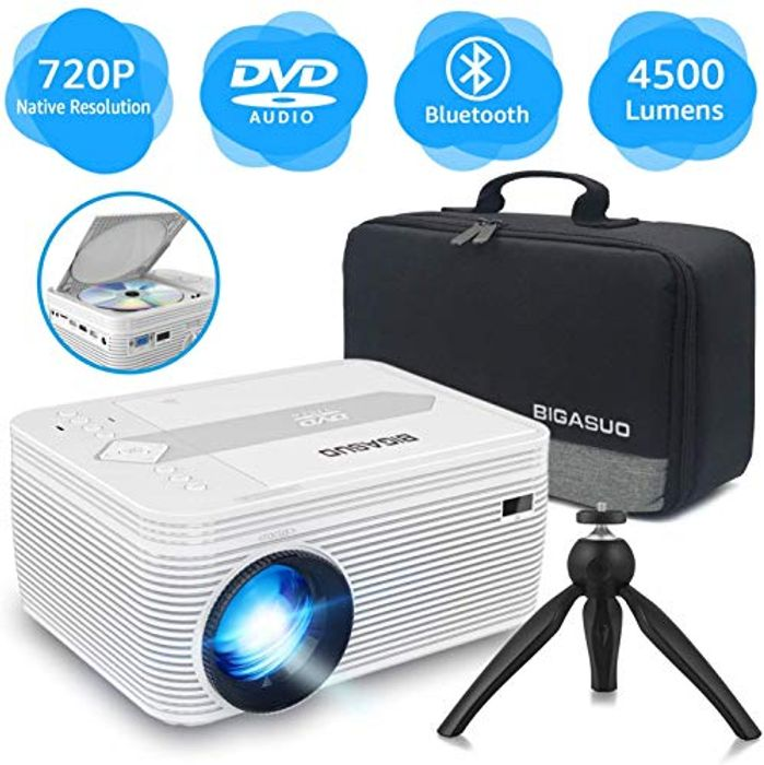 Mini Bluetooth Projector with DVD Player