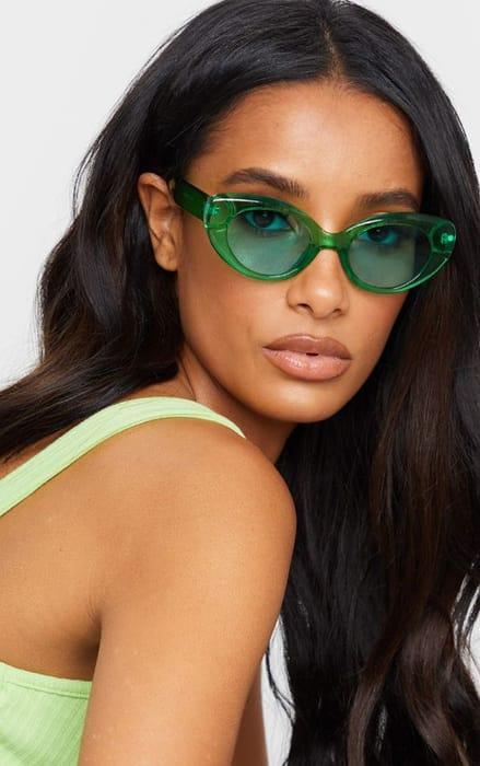 Green Cat Eye Sunglasses