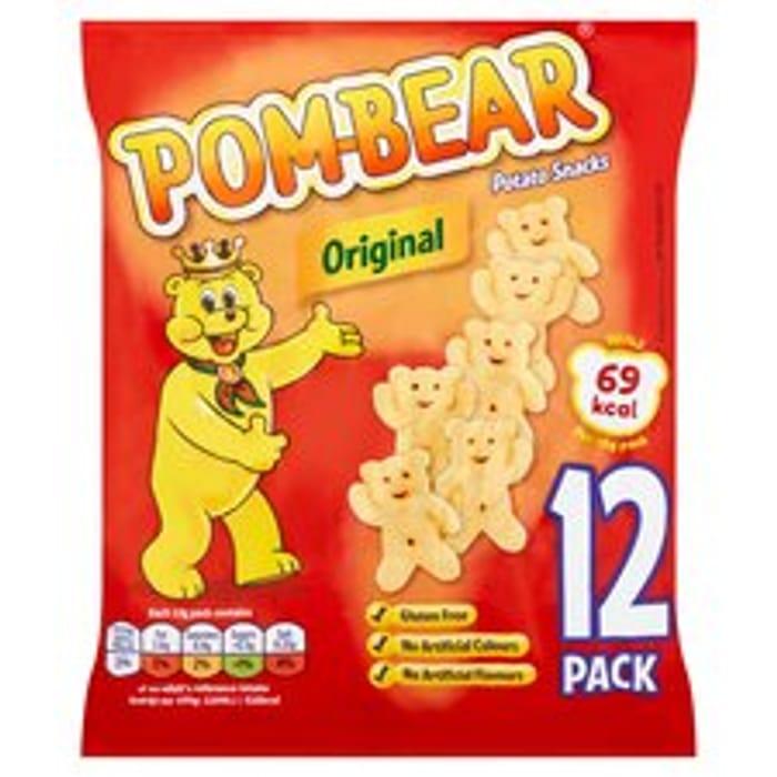 Pom Bear Original Crisps 12 Pack 12 X 13G