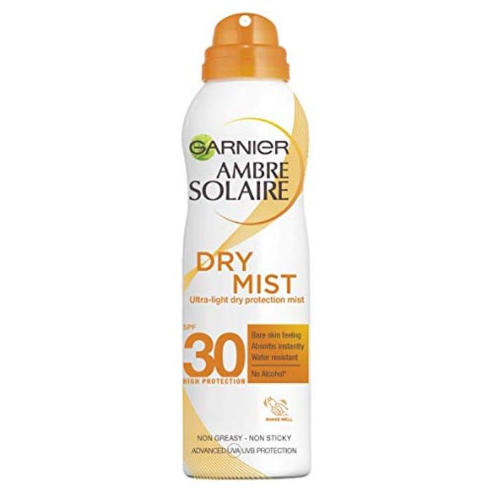 Garnier Ambre Solaire Dry Mist Fast Absorbing Sun Cream Spray SPF30, SPF50
