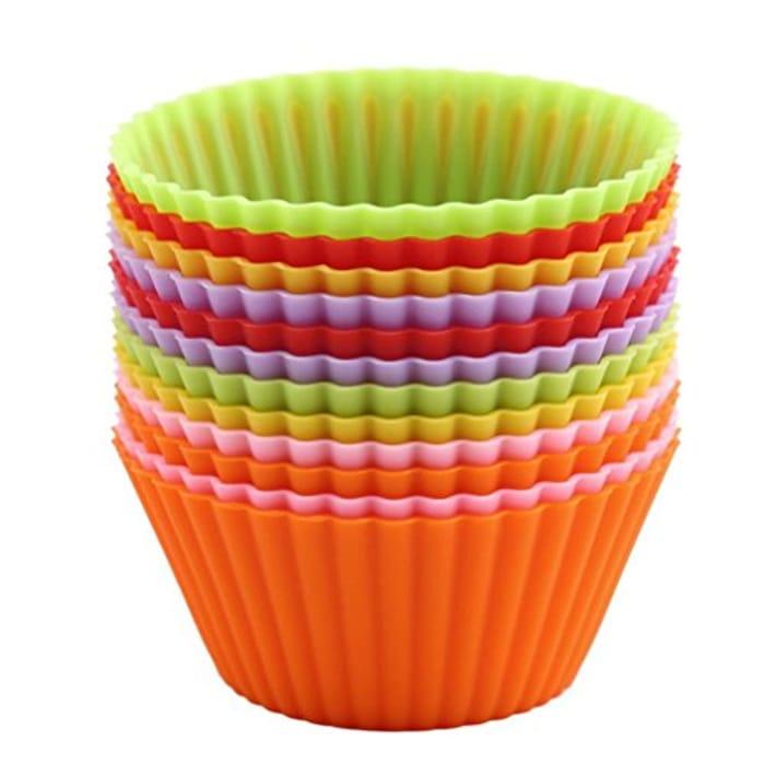 12 Silicone Cupcake Cases